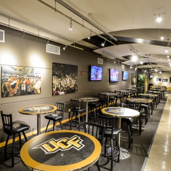 Black and Gold Lounge at Addition Financial Arena